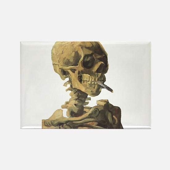 Smoking Skeleton Rectangle Magnet