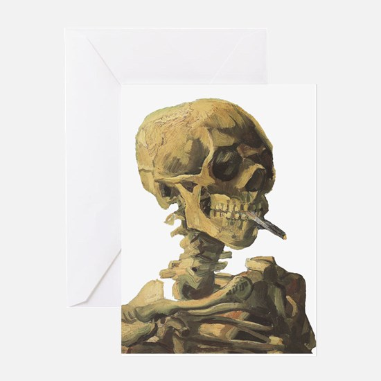 Smoking Skeleton Greeting Card