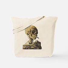 Smoking Skeleton Tote Bag