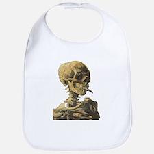 Smoking Skeleton Bib