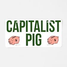 Capitalist Pig Aluminum License Plate