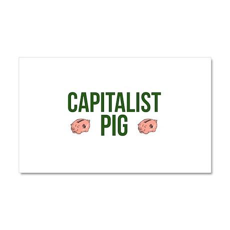 Capitalist Pig Car Magnet 20 x 12