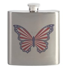 Patriotic Butterfly Flask