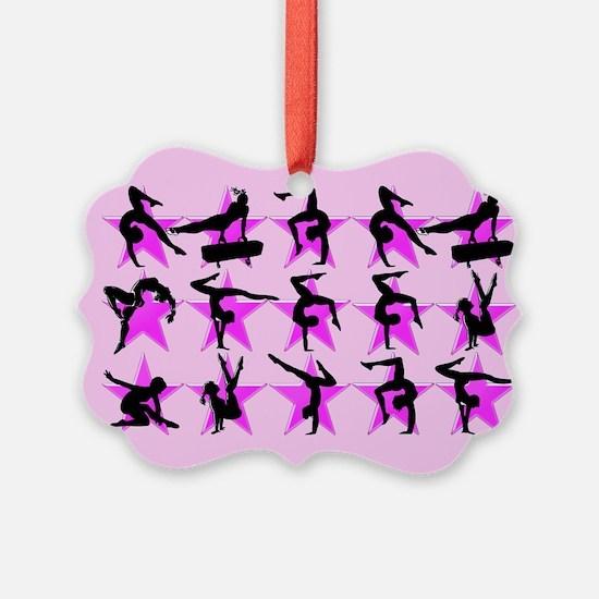 PRETTY PINK GYMNAST Ornament