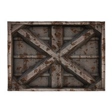 Rusty Shipping Container - beige 5'x7'Area Rug