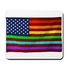 Gay Rights Rainbow Patriotic Flag Mousepad