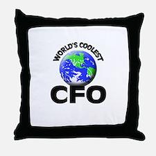 World's Coolest Cfo Throw Pillow