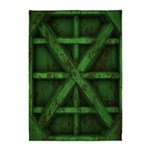 Rusty Shipping Container - green 5'x7'Area Rug