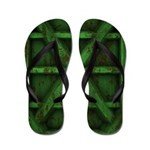 Rusty Shipping Container - green Flip Flops