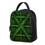 Rusty Shipping Container - green Neoprene Lunch Ba