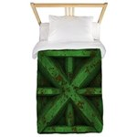 Rusty Shipping Container - green Twin Duvet