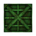 Rusty Shipping Container - green Queen Duvet