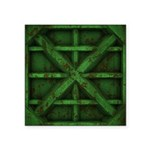 Rusty Shipping Container - green Sticker