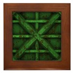 Rusty Shipping Container - green Framed Tile