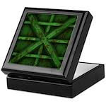 Rusty Shipping Container - green Keepsake Box