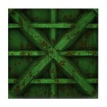Rusty Shipping Container - green Tile Coaster