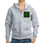 Rusty Shipping Container - green Zip Hoodie