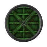 Rusty Shipping Container - green Large Wall Clock