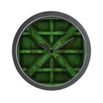 Rusty Shipping Container - green Wall Clock