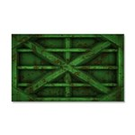 Rusty Shipping Container - green Car Magnet 20 x 1