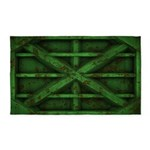 Rusty Shipping Container - green 3'x5' Area Rug