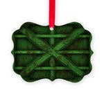 Rusty Shipping Container - green Ornament