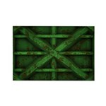 Rusty Shipping Container - green Rectangle Magnet