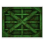 Rusty Shipping Container - green Posters
