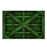 Rusty Shipping Container - green Postcards (Packag