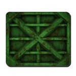 Rusty Shipping Container - green Mousepad