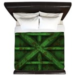 Rusty Shipping Container - green King Duvet