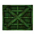 Rusty Shipping Container - green Throw Blanket