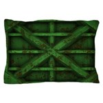 Rusty Shipping Container - green Pillow Case