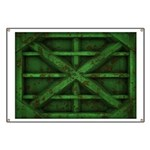 Rusty Shipping Container - green Banner