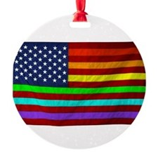 (LGBT) Gay Rainbow Pride Flag - Ornament