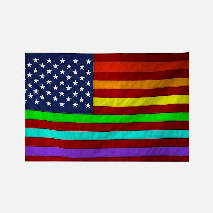 (LGBT) Gay Rainbow Pride Flag - Rectangle Magnet
