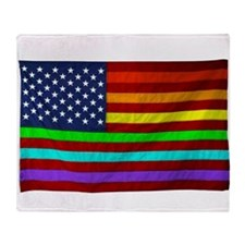 (LGBT) Gay Rainbow Pride Flag - Throw Blanket