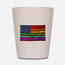 (LGBT) Gay Rainbow Pride Flag - Shot Glass