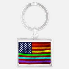 (LGBT) Gay Rainbow Pride Flag - Keychains