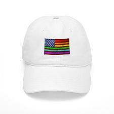 (LGBT) Gay Rainbow Pride Flag - Baseball Baseball Cap