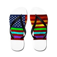 (LGBT) Gay Rainbow Pride Flag - Flip Flops