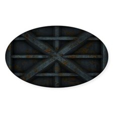Rusty Shipping Container - black Decal