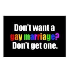 Gay Marriage Postcards (Package of 8)