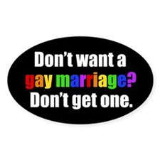 Gay Marriage Decal