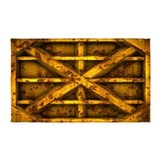Rusty shipping container 3x5 Rugs