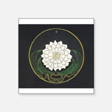 Golden Flower Mandala Sticker