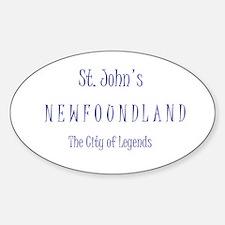 St. John'sn NL Oval Decal