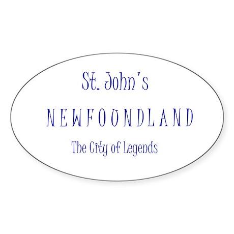 St. John'sn NL Oval Sticker