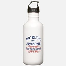 World's Most Awesome Tow Truck Driver Water Bottle