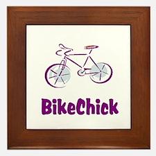 BikeChick Logo Framed Tile
